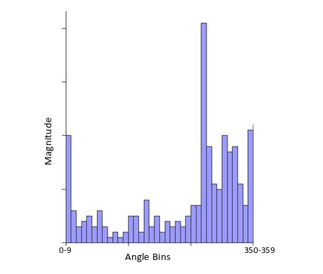 Histogram of oriented gradients