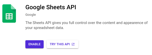 google spreadsheets with python: enable
