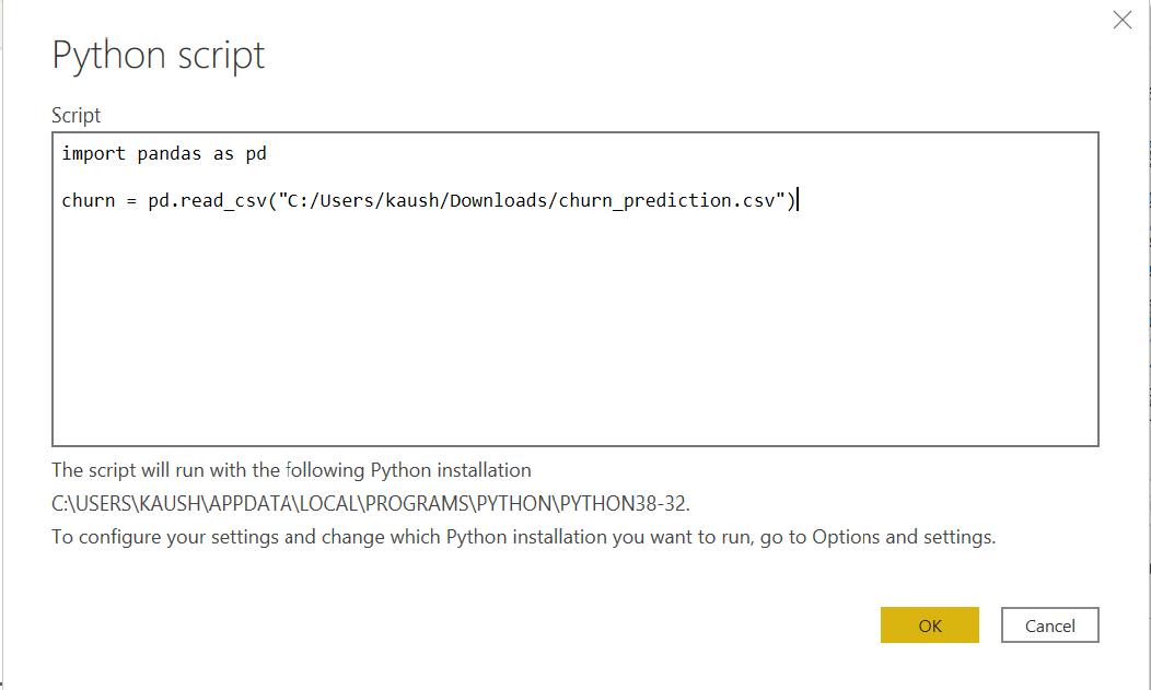 Integrating Python with Power BI: Python Script