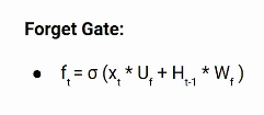 Forget Gate LSTM